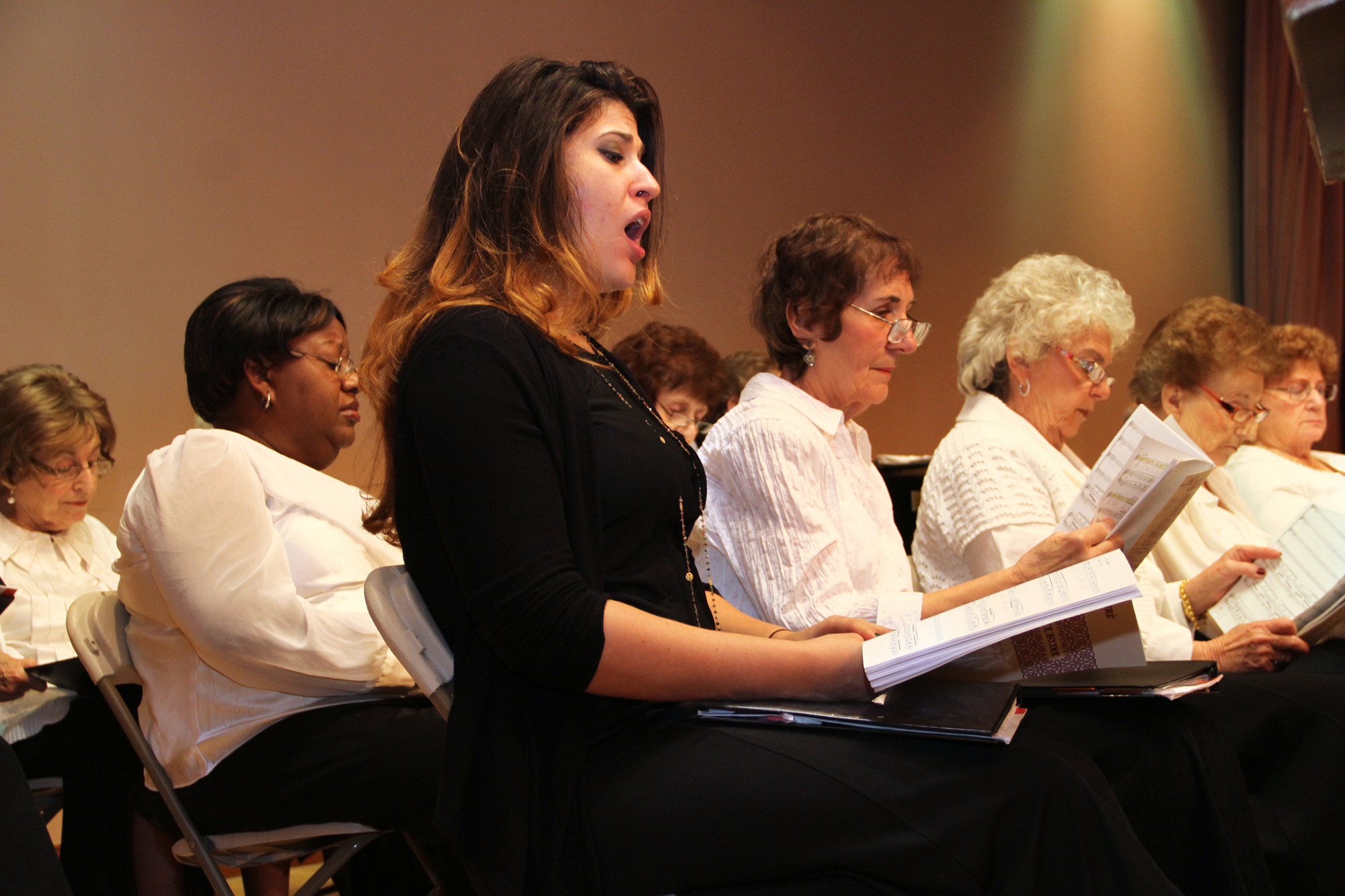 The United Chorale Society was bolstered by guest artists, including soprano Alixis Pesenti.