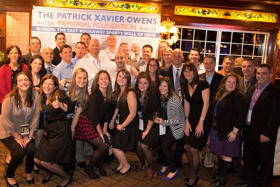 The East Rockaway Sports wall of Famers were honored by the Patrick Xavier Memorial Foundation at a dinner at the Coral House in Baldwin recently.