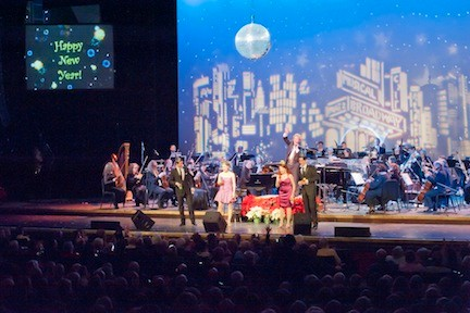 Maestro David Stewart Wiley and the Long Island Philharmonic bid a fond farewell to 2013 at their annual New Year's Eve celebration. The orchestra, along with guest vocalists, hit all the right notes at the gala concert at Tilles Center.