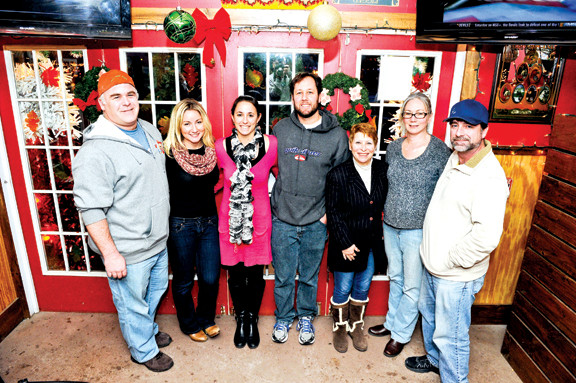 The Pay it Forward crew: Sean and Kelly Sullivan, left, Jackie and Billy Kupferman, Janet Slavin, Michelle and Tim Kelly.