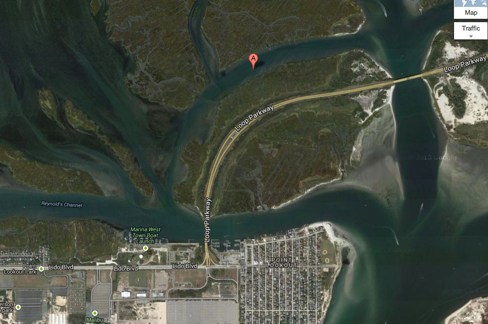 The men were rescued in Seadog Creek, north of Point Lookout.
