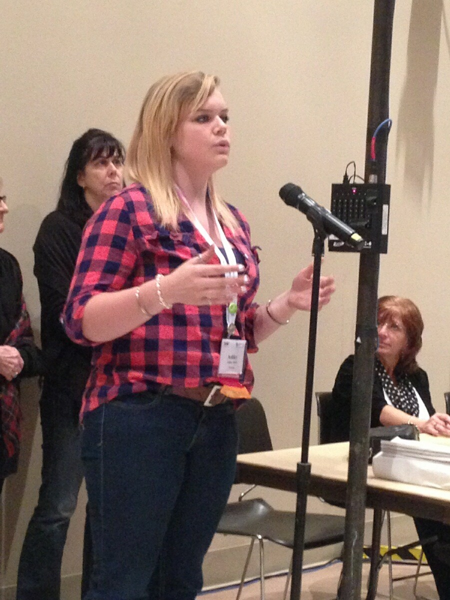Ashley Allred voiced her concerns during open session at the convention.