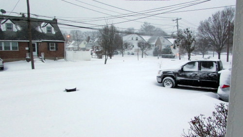 Residents woke up to about 7 inches of snow that fell mostly overnight on Thursday into Friday.