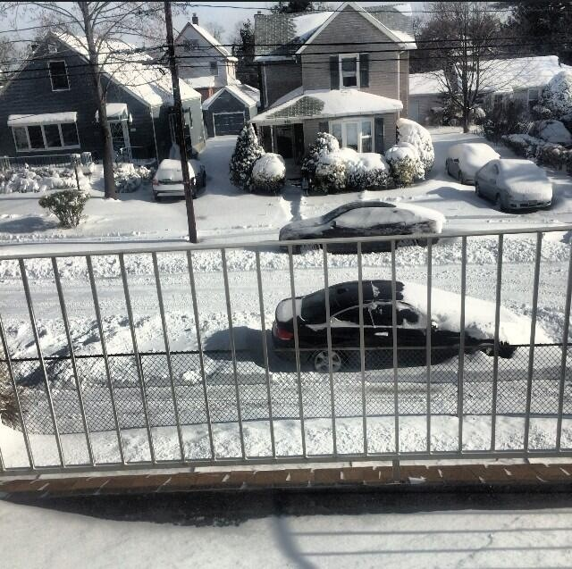 The view from a home on Madison Avenue in Cedarhurst.