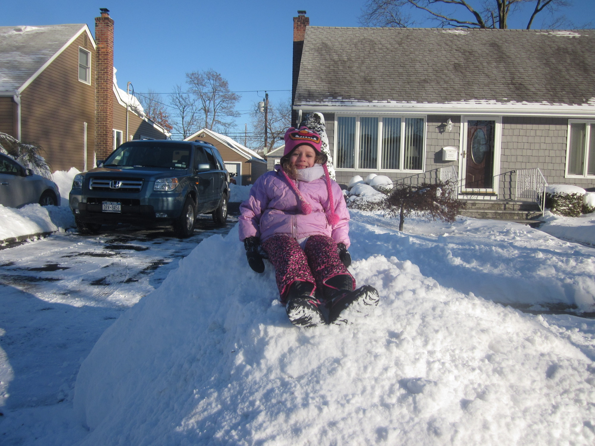 Lila Doyle, 4, said her favorite snow activity is making snow angels.
