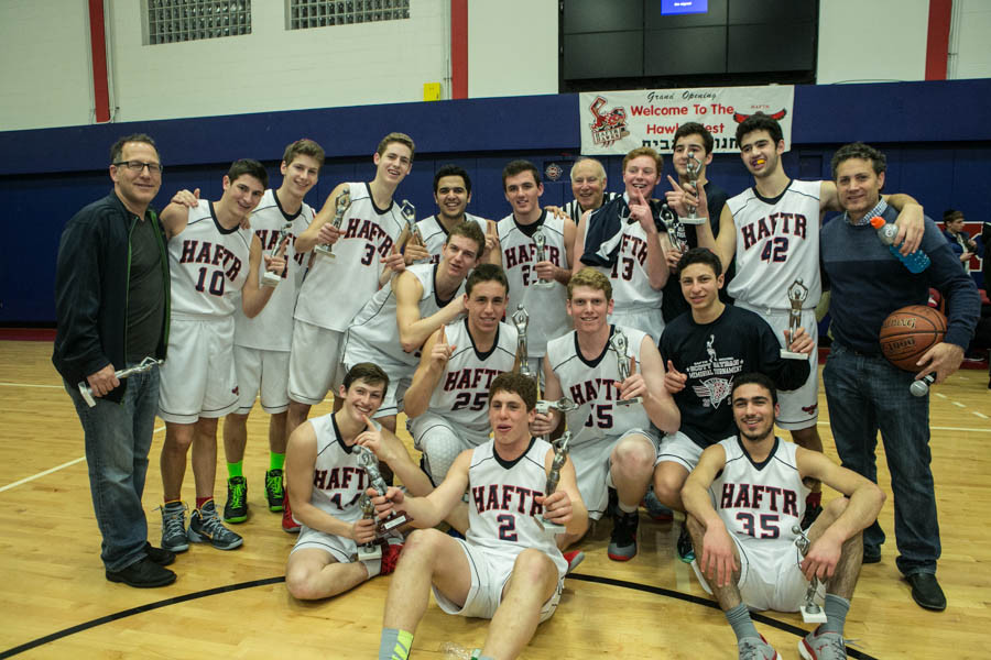 The HAFTR Hawks celebrated winning the annual Scott Satran Memorial Basketball Tournament played last weekend at the Hawks Nest sports complex.
