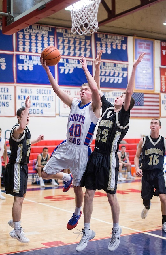 South Side's Paul Pandolfi, who had 14 points and 11 rebounds, eyed the rim during last Friday's 67-46 home victory over Wantagh.
