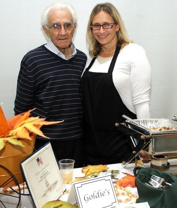 "Alberto ""Goldie"" Occhiuzzo, with his daughter Kelly Zack at Peninsula Counseling Center's A Tasteful Evening in October, died on Jan. 10 at the age of 90."