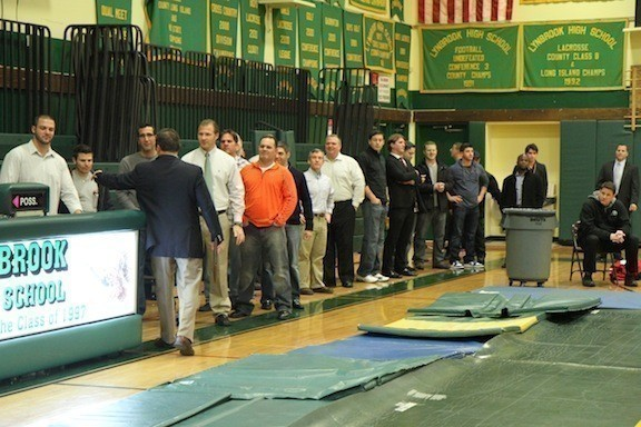 More than three decades of Lynbrook High School wrestlers gathered last week to watch the current team and reunite for a night of fun at Lynbrook High School.