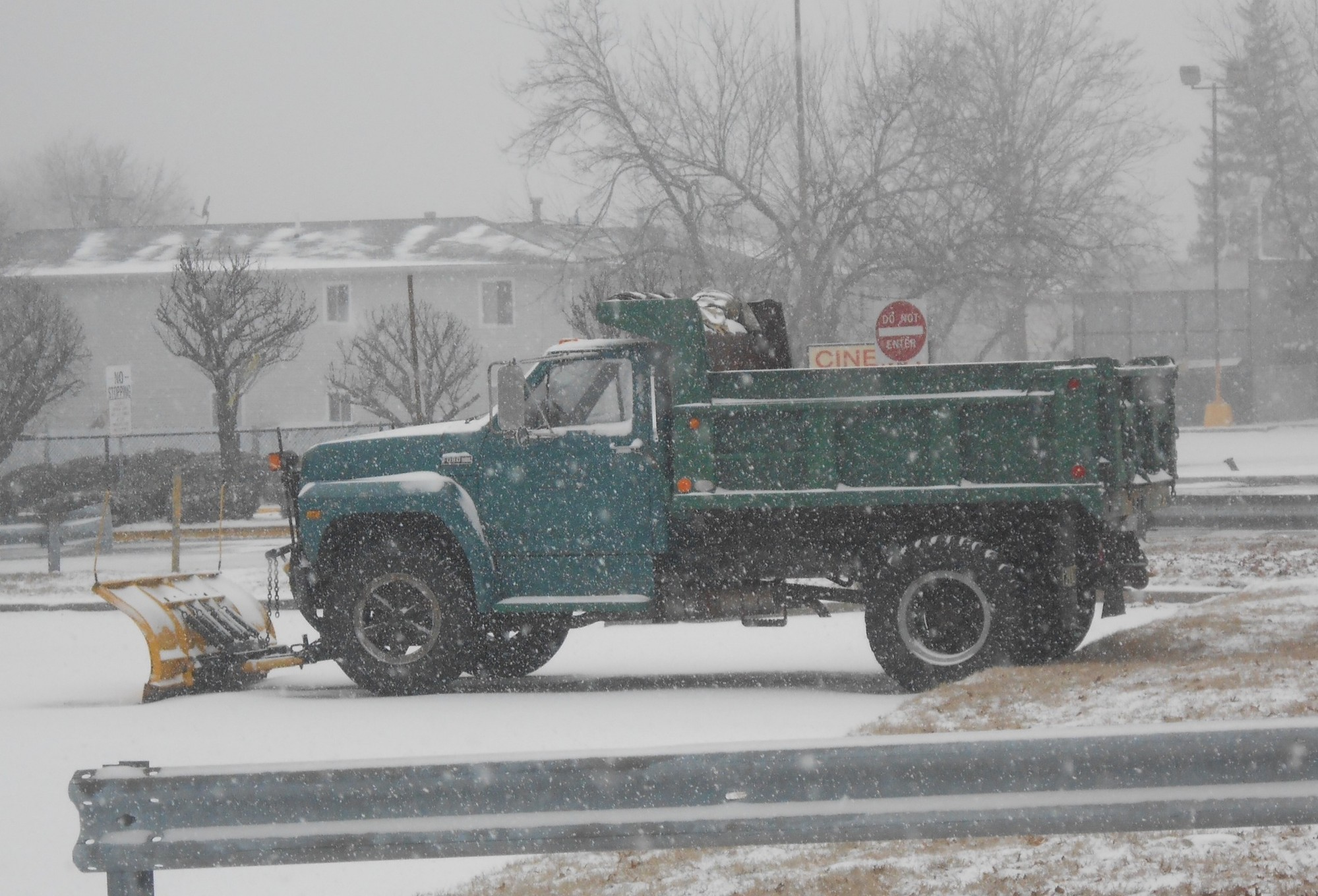 Plows were out in full force on Tuesday in Valley Stream as the latest snow storm began to hit the region.