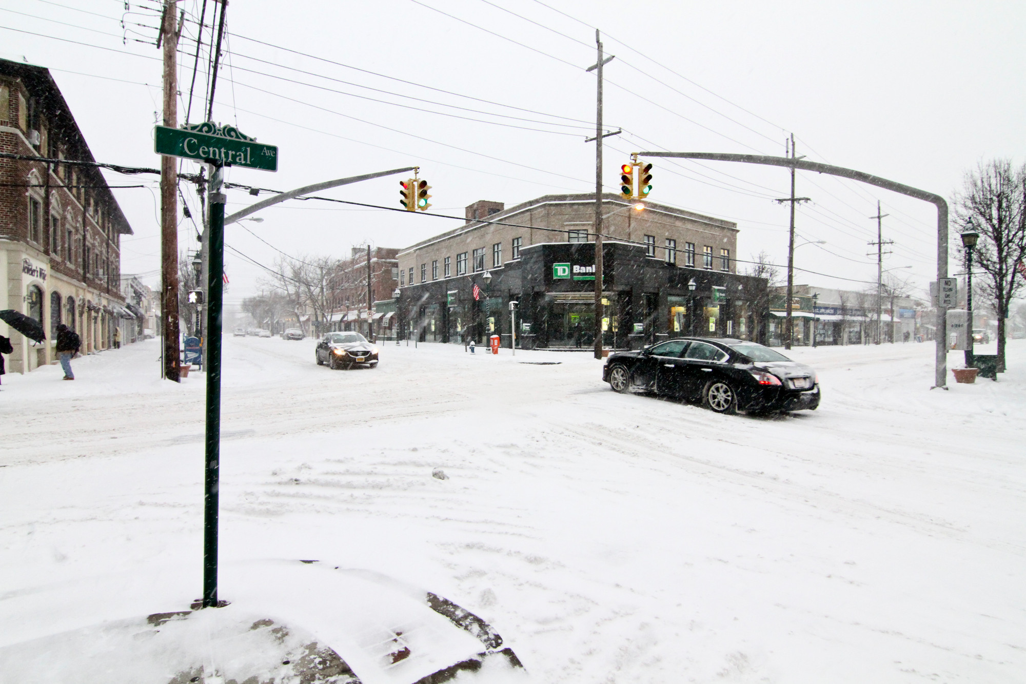 After the snow hit Cedarhurst on Tuesday, the village has been plowing and shoveling to clear the streets.