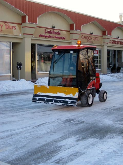Village employees were out plowing the streets all night.