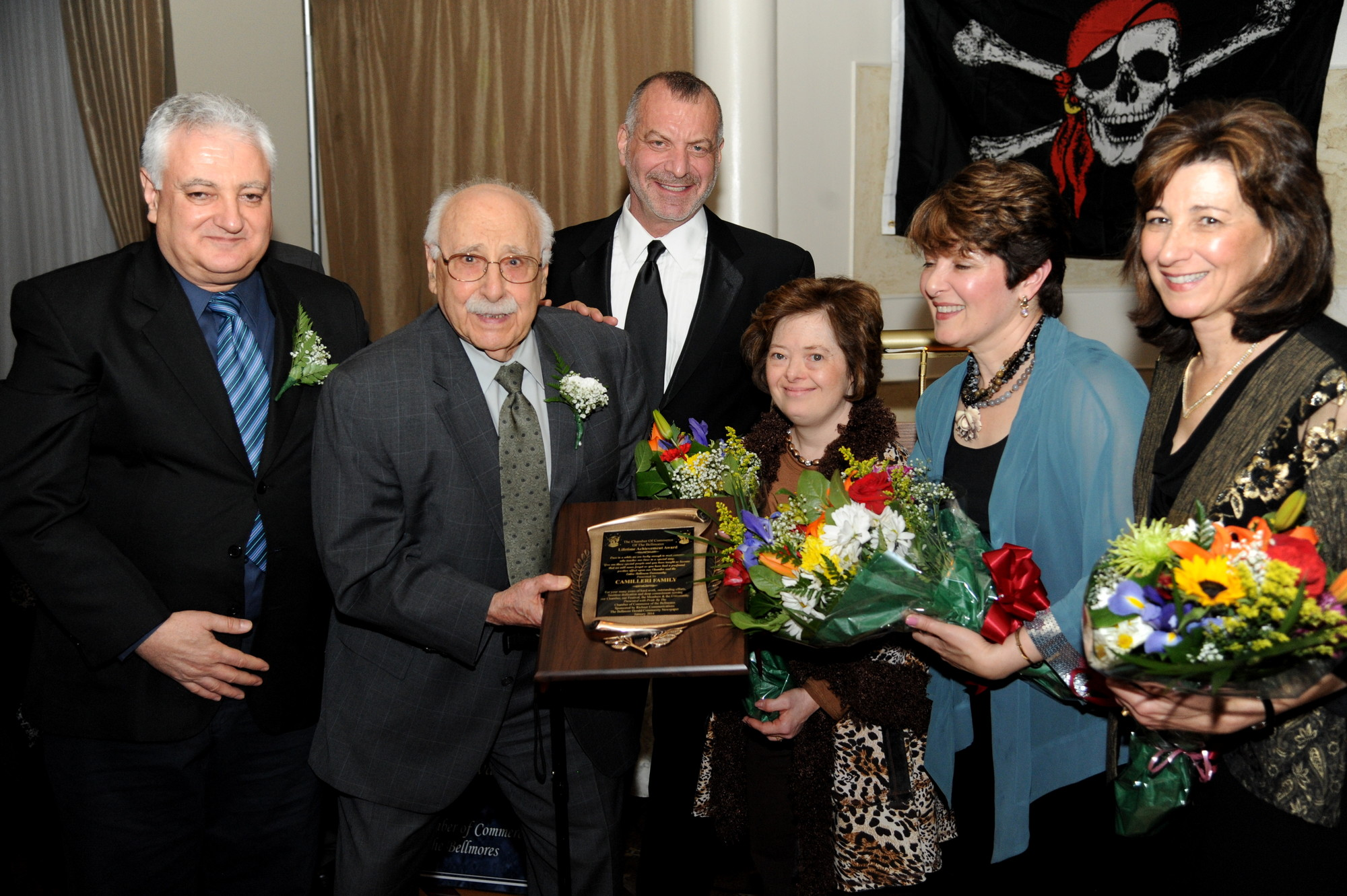 Cliff Richner presented the Lifetime Achievement Award to the Camilleri family, owners of Dear Little Dollies.