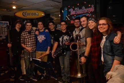 Lucidity members, left to right, Andrew Friedman, Andrew Hochler, Alex Frondelli, Jesse Klirsfeld, Adam Allen, Morgan Krupinski, Stephen Daskalakis, Gabby Kaplan and Elizabeth Webb (not shown: Andrew Leathem) rocked out for a packed house at the band's album release party on Jan. 5 at the Blue Parrot in Massapequa.