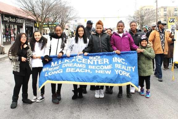 The parade honored Dr. King and the late Nelson Mandela.