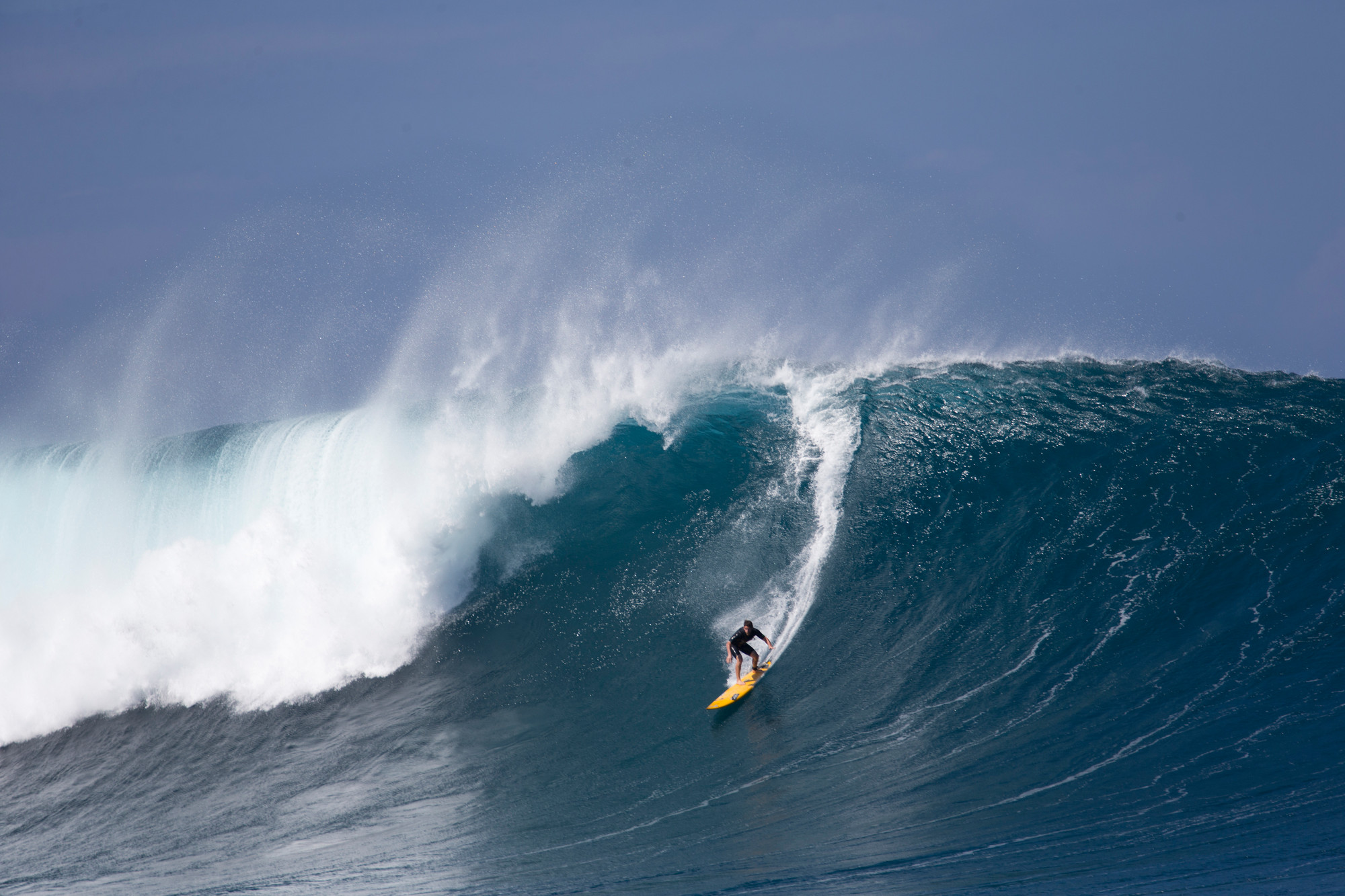 Professional big-wave surfer Will Skudin, of Long Beach, rode the massive surf break known as Jaws off Maui on Monday, where the swells can exceed 60 feet. Skudin was recently named the 2013 Surfer of the Year by a prominent surfing magazine, the first New Yorker to earn the distinction.