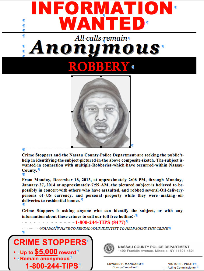 Police are looking for the public's help in identifying an unknown subject in connection with oil truck robberies.