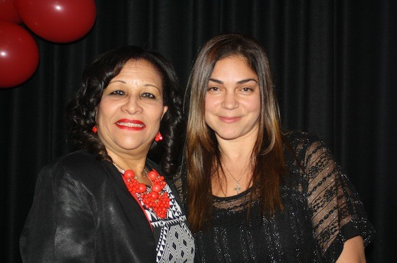 Teachers Marlene Mark, left, and Anastasia Caputo were this year's recipients of the Dr. Martin Luther King Jr. humanitarian awards, which were presented at the Malverne School District's 28th annual Dr. Martin Luther King Jr. celebration.