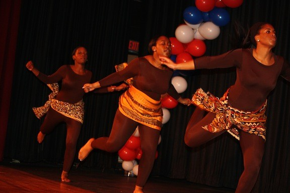 Malverne High School's dance group performed a tribute to Nelson Mandela.