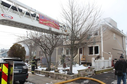 Bellmore Fire Department officials said the blaze started on the first floor and spread to the second level from there.