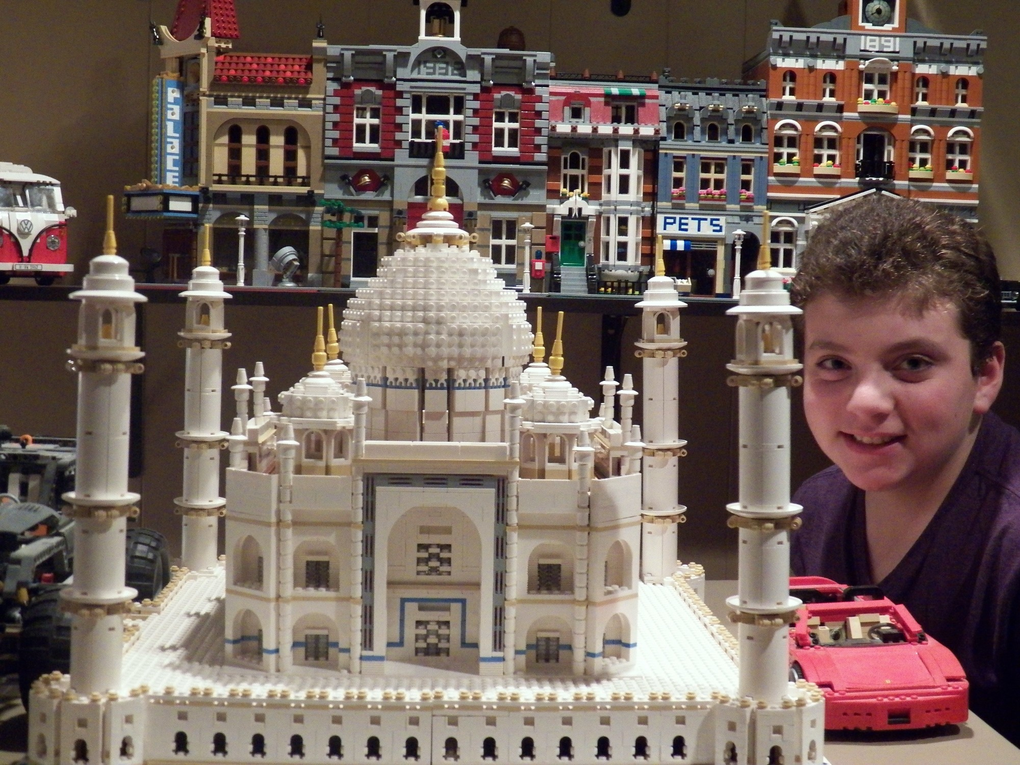 Shane Weiner, a Woodland Middle School student, constructed a 6,000-piece Lego   replica of the Taj Mahal, which served as the centerpiece of his Jan. 18 bar mitzvah at the Bridgeview Yacht Club in Island Park.