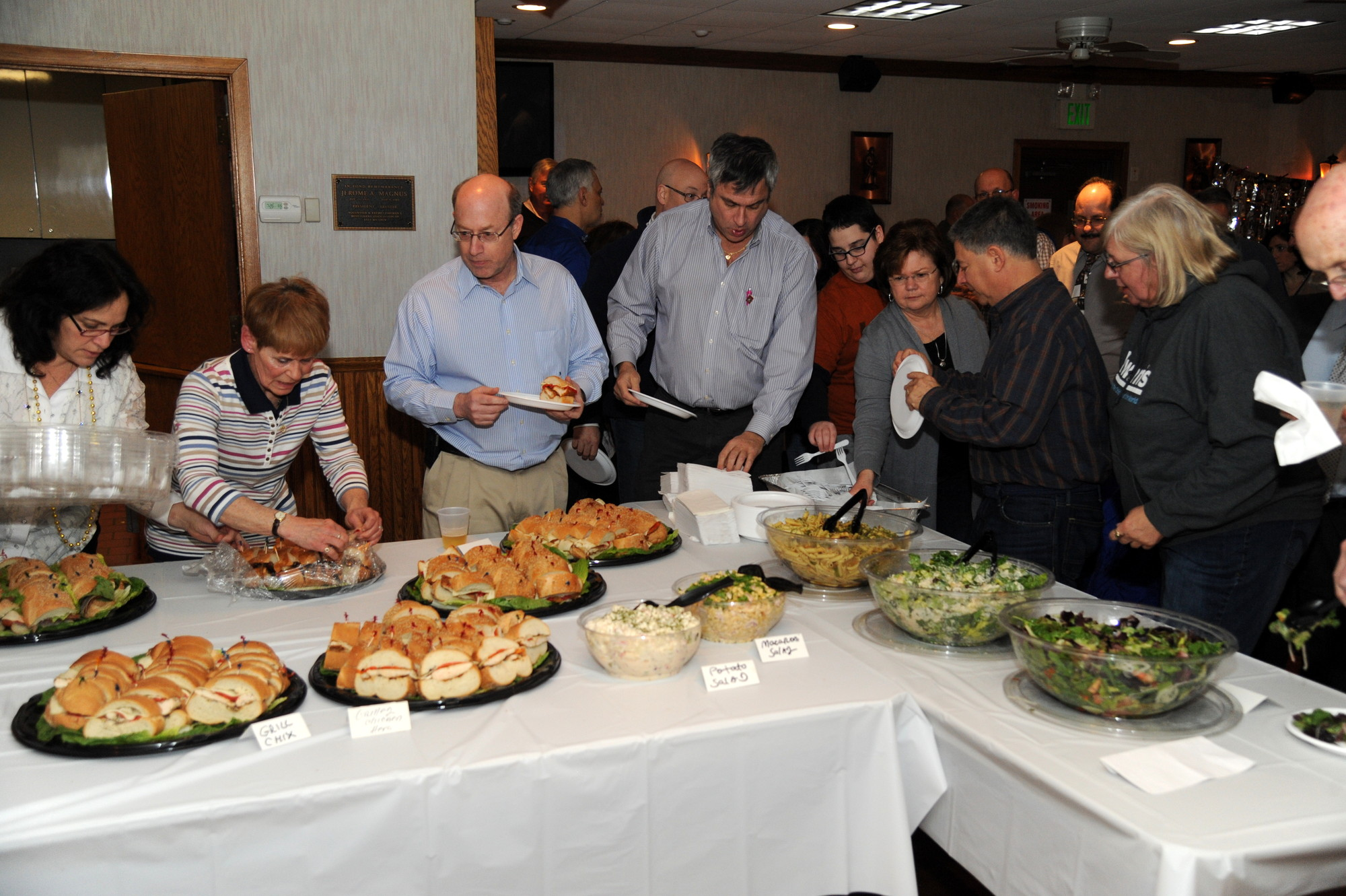 There was no shortage of food during the fundraiser at the East Meadow Firefighters' Benevolent Hall on Maple Avenue.