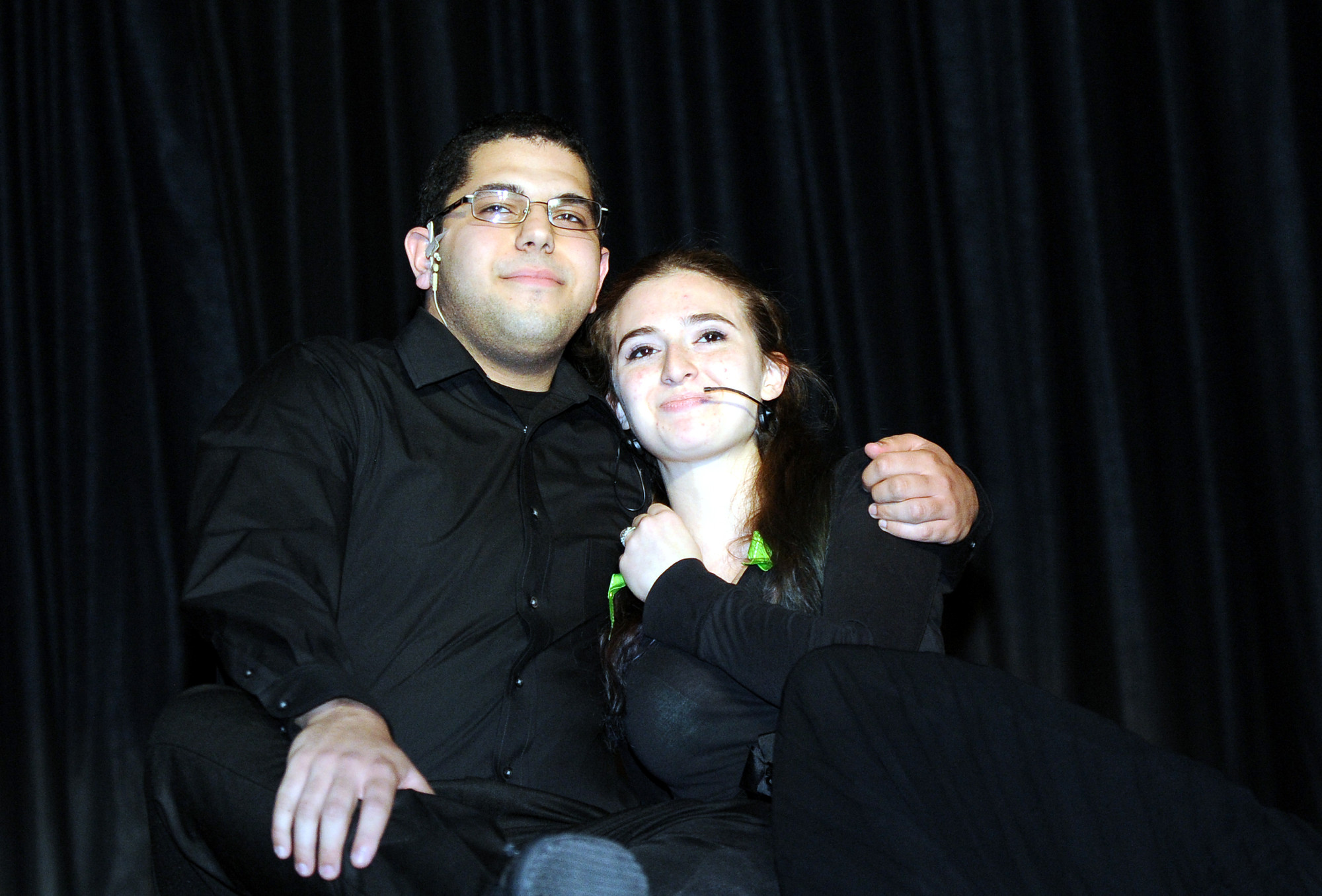 "David Kormos and Kassandra McAdam sang the Disney classic ""A Whole New World"" at the Mepham High School drama club's recent revue."