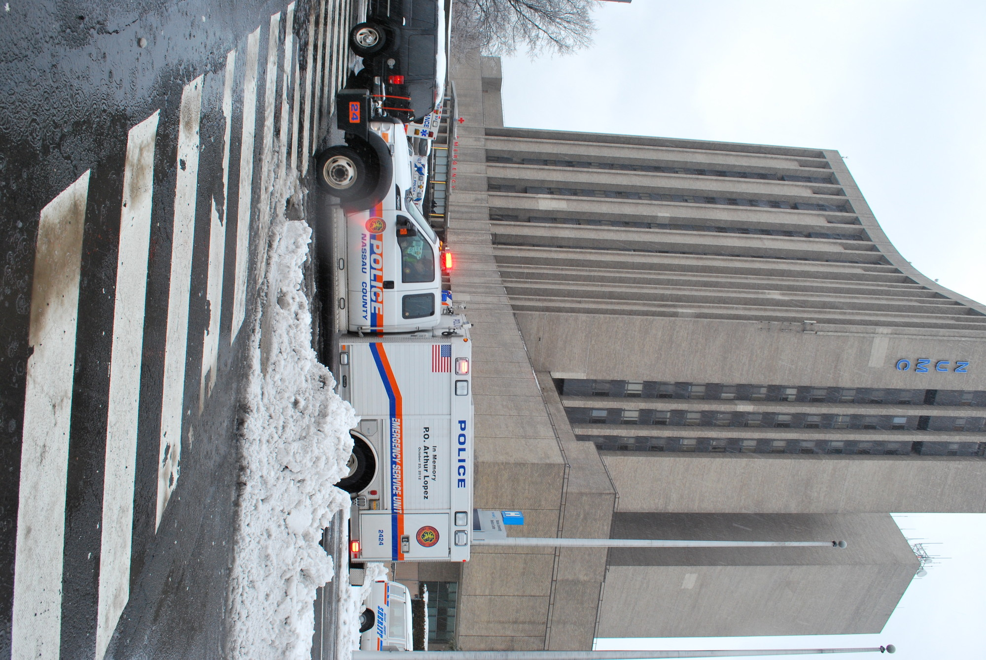 The NUMC emergency room entrance was flooded with police on Wednesday morning.