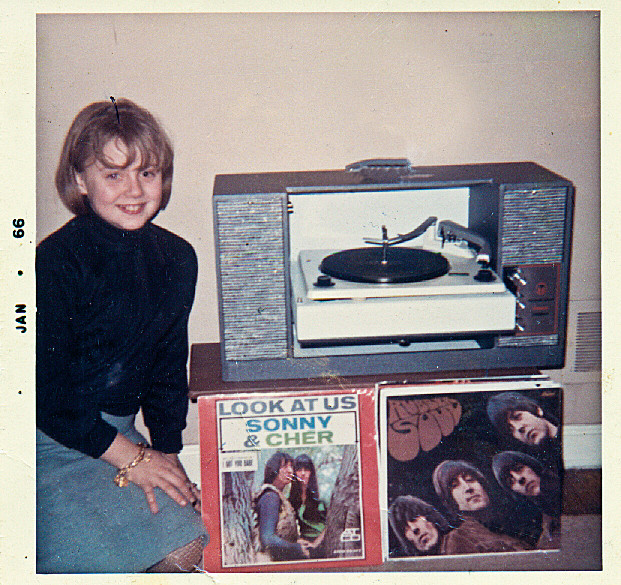 "By the time I was 11,  I was a full-fledged Beatle fan. Check out my 1966 Christmas presents: a state-of-the-art record player, and two newly-minted albums: Sonny & Cher, and The Beatles ""Rubber Soul."""