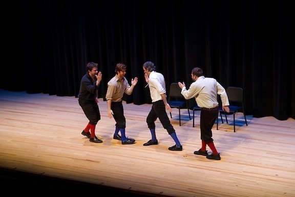 Hath thou a line? Those energetic lads, who are otherwise known as the Improvised Shakespeare Company, dance, sing and even get involved in some swordplay.They'll perform at the Madison Theatre on Feb. 14.