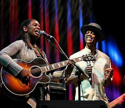 Ruthie Foster and Eric Bibb combine for a blues double-bill at Landmark on Main Street on Feb. 8.