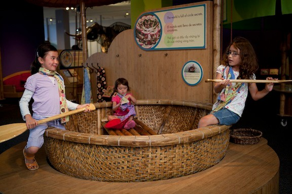 Circles around the world: Climb inside a round boat from Vietnam at Long Island Children's Museum's newest traveling exhibit.