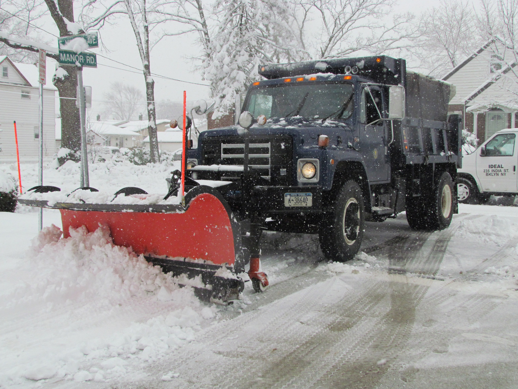 Valley Stream plows were out in full force on Feb. 3 as a storm dropped about eight inches of snow.