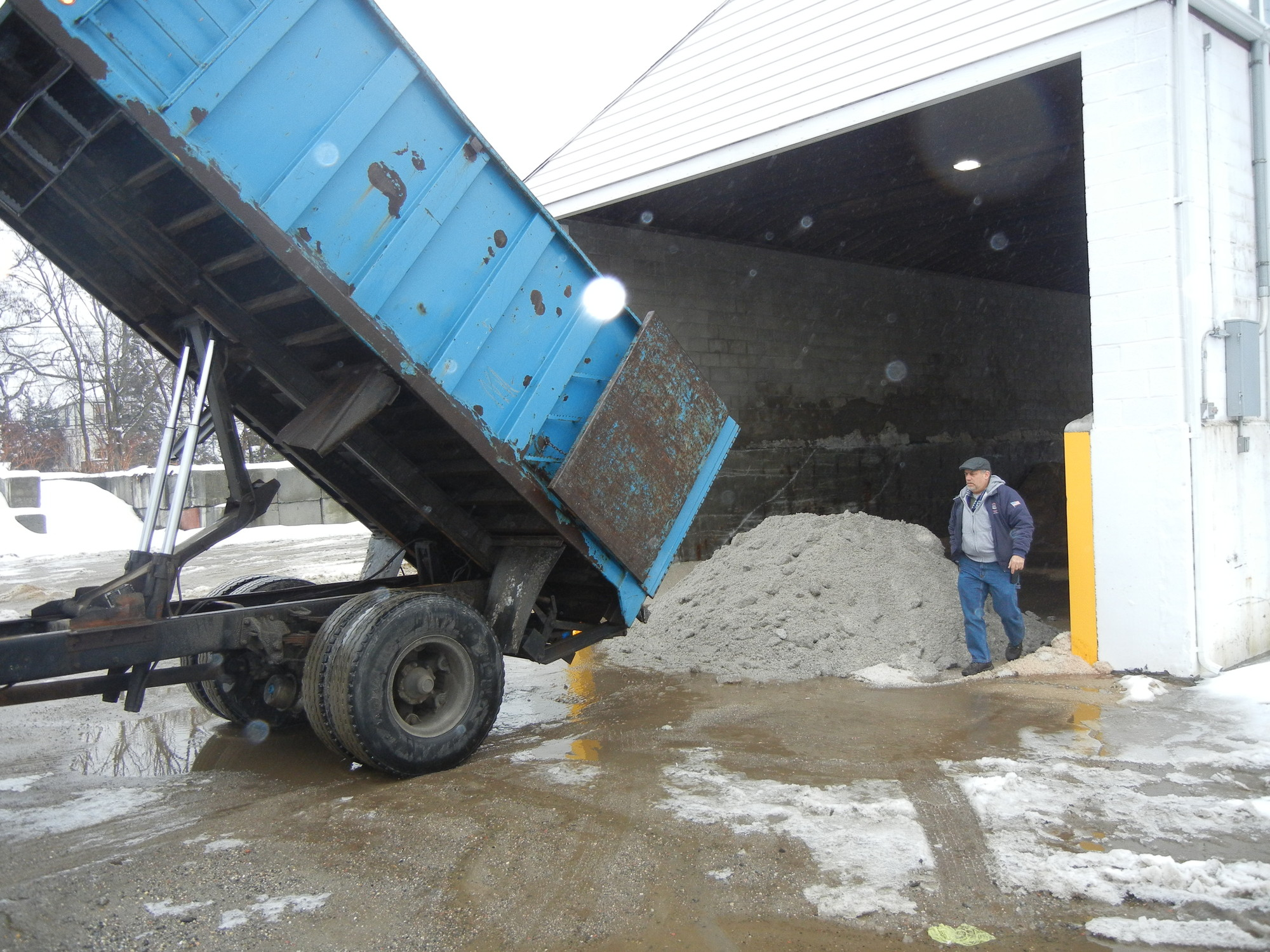 The village recently received an emergency salt delivery from Nassau County after its supply ran low.