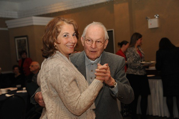 Clementine Becker shared a dance with her father-in-law, Francis X. Becker.