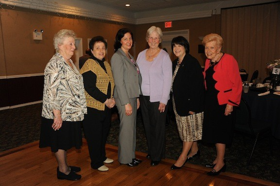 The women were recognized for their accomplishments and their character. Pictured were Flo Brooks, Carol Burak, Melissa Burak, Eleanor deNeufville, Linda Stevenson and Margaret Smith.