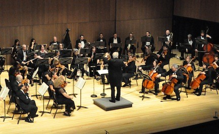 The South Shore Symphony performs at the Madison Theatre on Saturday.