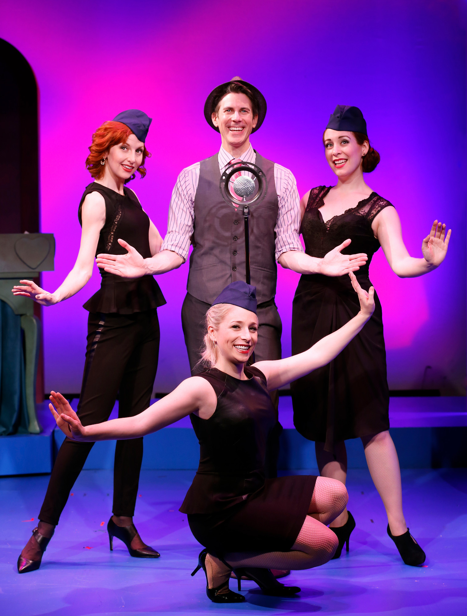 Lawrence native Rosemary Kalikow co-produced the off-Broadway play �Til Divorce Do Us Part.� From left Erin McGuire, John Thomas Fischer, Dana Wilson, kneeling, and Gretchen Wylder in the musical.