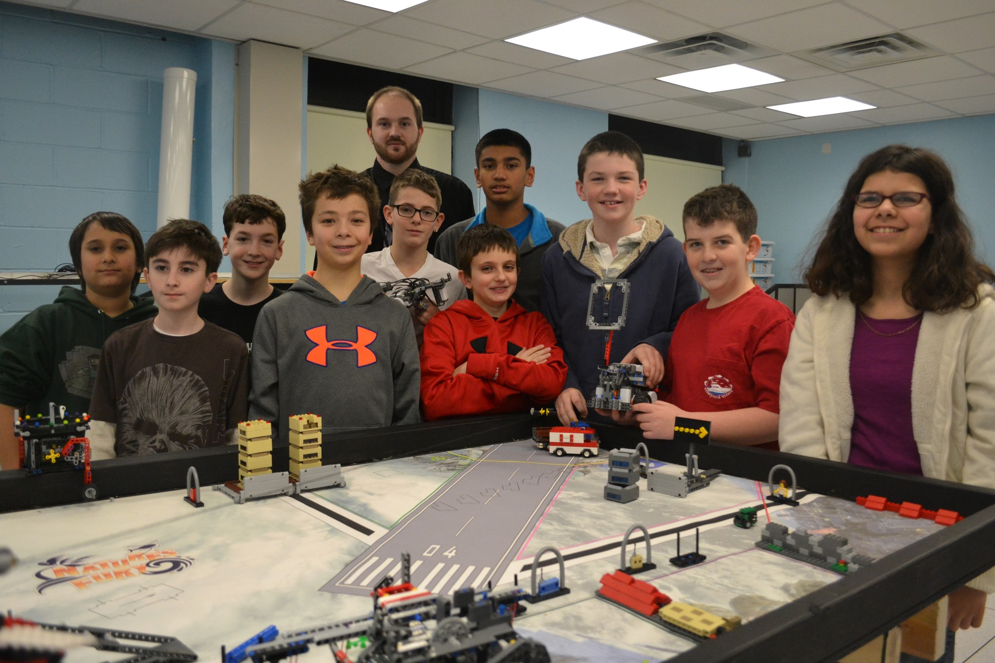 The South Side Middle School Robotics club placed in the Lego League Robotics Competition.