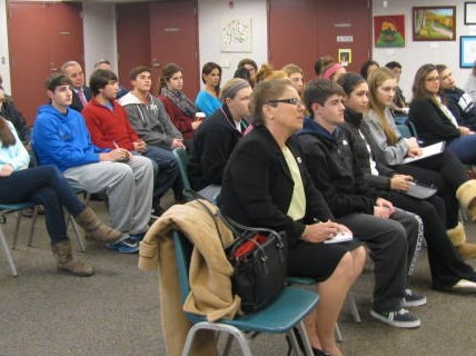 A Rapt Youth Council forum audience.