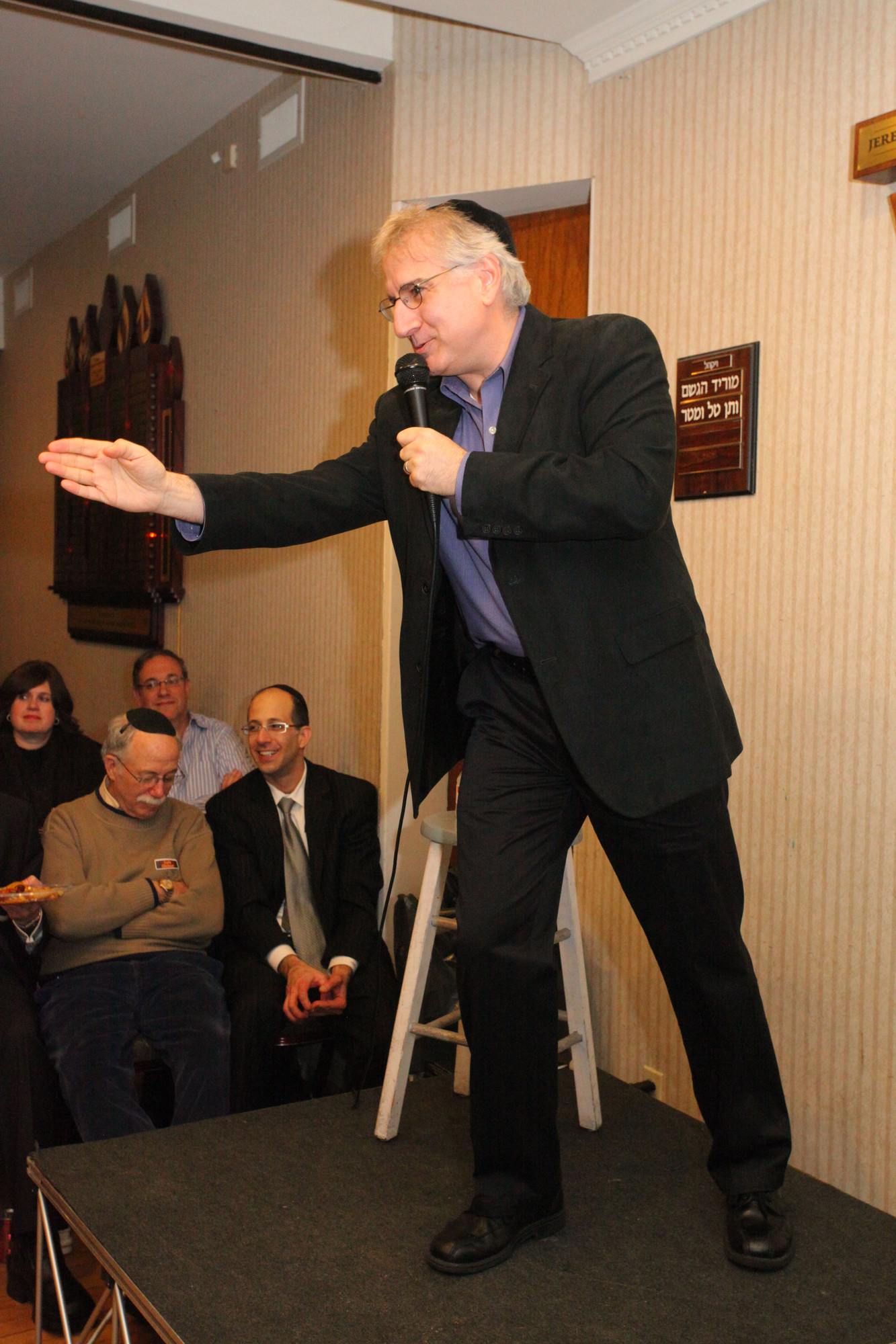 An animated Randy Levin makes a point as he entertained during Comedy Night.