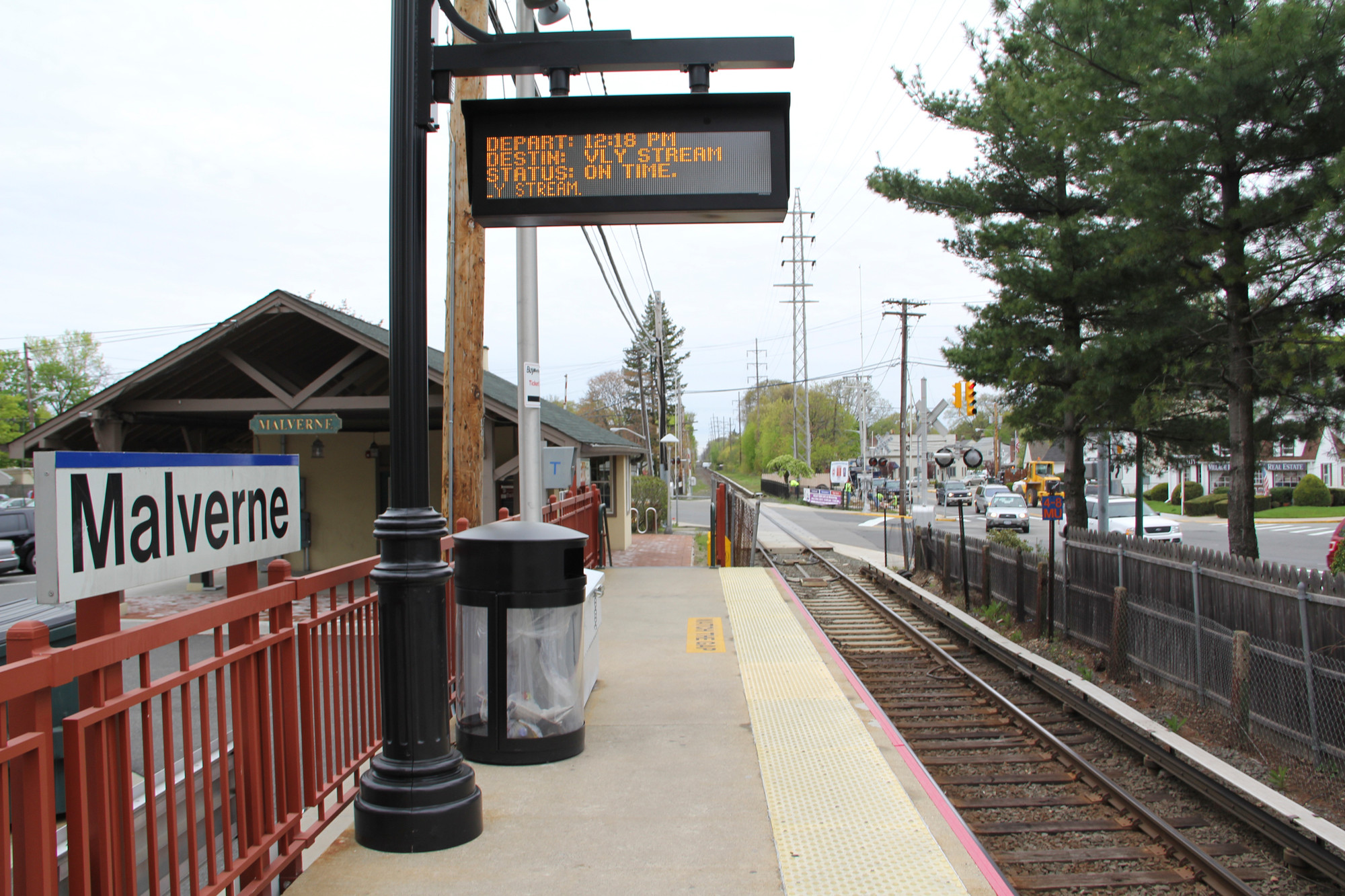 The Village of Malverne came to a standstill on Feb. 15 when motorists and pedestrians were caught in a traffic jam at the Hempstead Avenue intersection as a result of its Long Island Rail Road station being closed for maintenance. Weekend service on the West Hempstead branch remained suspended.