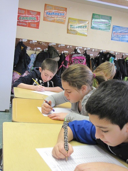Mrs. Mary Ralp�s class at School 4 have sharpened their pencils to tackle sprints, a math-based game in which students race to beat their previous problem-solving score.