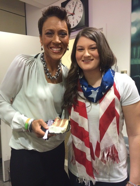 Logan with Robin Roberts of 'Good Morning America.'