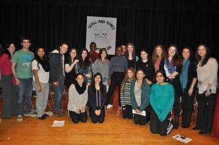 Spoken word poet Koromone Koroye performed for a group of students at Mepham High School on Jan. 30 as part of an afterschool enrichment workshop.