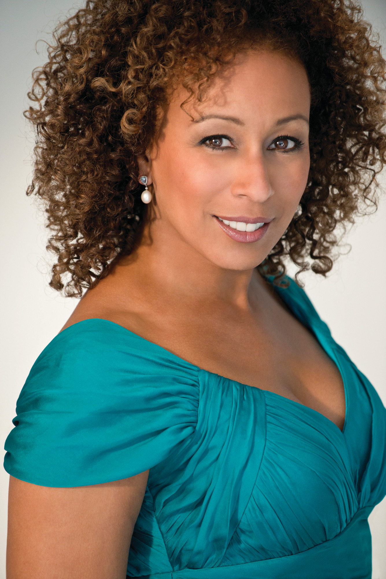 Actress Tamara Tunie performs in Rockville Centre on Saturday.