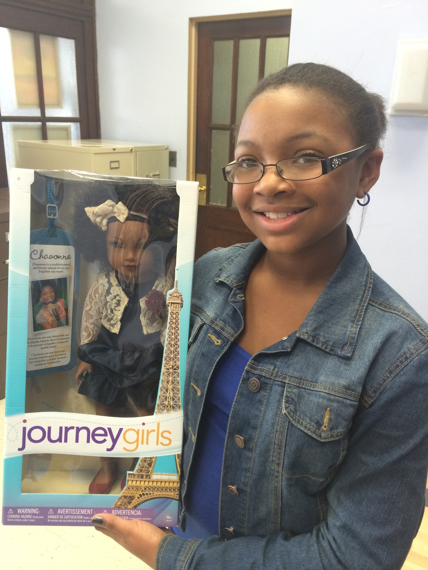 Ayannah Ruffin was selected late last year to become the face of Chavonne, one of six Journey Girls dolls that hit the shelves in December.