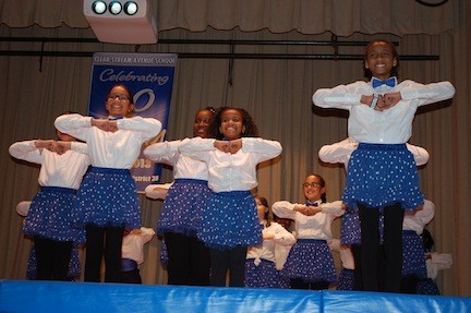 The Clear Stream Steppers gave a rousing performance to conclude District 30's 90th anniversary celebration on Feb. 26.