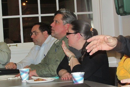 Robert Baccari, Stephen Wangel and Jennifer Derrig at the most recent Lynbrook Chamber meeting.