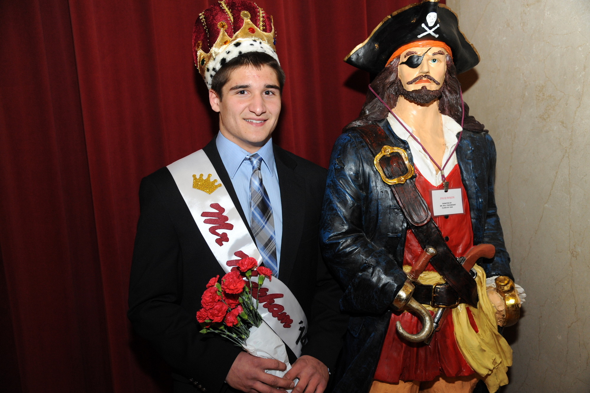 "Senior Chris Durkin was crowned ""Mr. Mepham"" in the student competition."